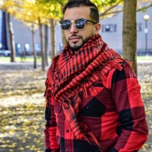 100% Cotton RED Shemagh Premium Arabic Scarf